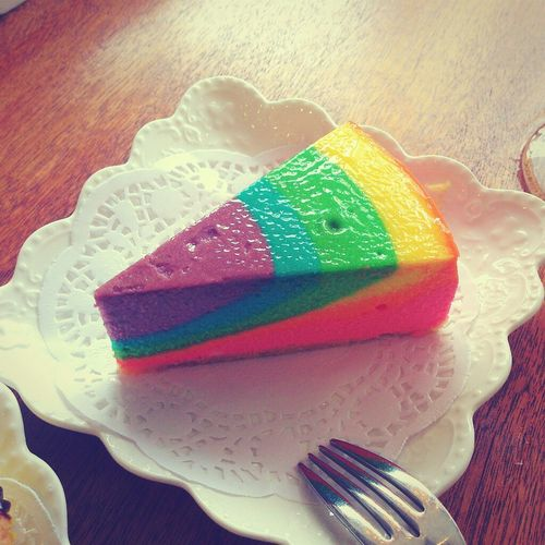 rainbow cake In My Mouf Coffee Break Coffee Time
