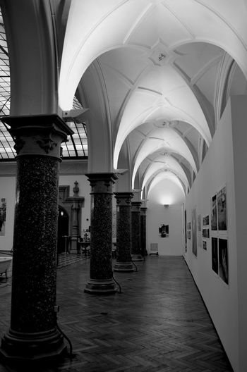 Blackandwhite Germany EyeEm Selects Arch Architectural Column Indoors  Architecture Corridor History Built Structure