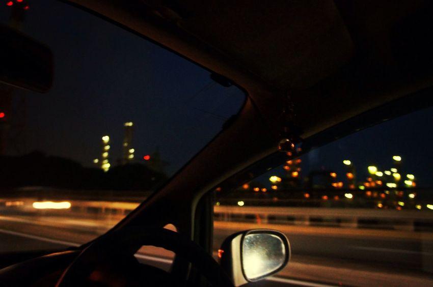 四日市の工業地帯が見えたよ〜。 On The Road Road Night The View From My Window