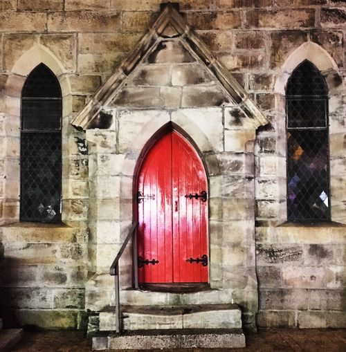Church Face manly church Check This Out Building Exterior Manly Church Red Door Building Face