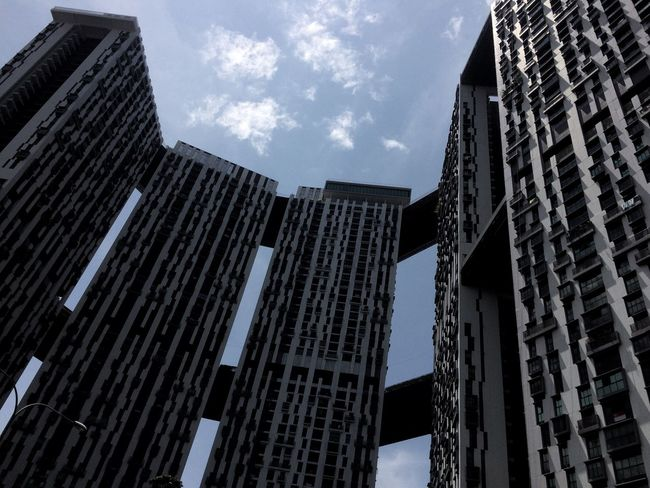 Low Angle View Sky Architecture Skyscraper Building Exterior Modern Corporate Business Built Structure Growth No People Outdoors City Day