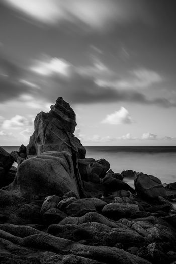 Therapy Black And White Black And White Photography Bnw_collection Bnw_collection Art Fine Art Photography Long Exposure Photography Long Exposure Landscape_Collection Landscape_photography Scenics - Nature Beach No People Rock Tranquil Scene Land Rock - Object Horizon Over Water