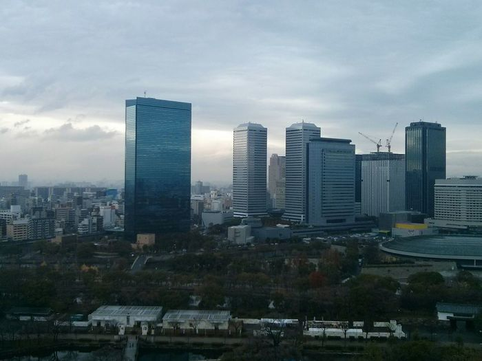 Skyline of OSAKA. · Japan Cityscapes Highrises Great View Architecture Urban Geometry Urban Landscape Gray Sky