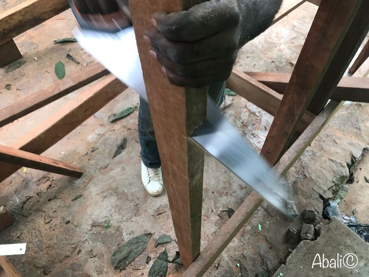 High Angle View Wood - Material Day Work Tool One Person Low Section The Architect - 2018 EyeEm Awards Human Body Part Working Men Human Leg Occupation Workshop Outdoors Shoe Metal Nature Real People Seat Body Part