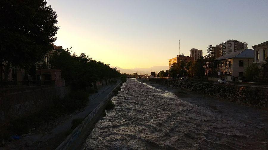 Sunset Sky Riomapocho Santiagoapie