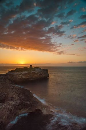 Summer sunrise Cliffs Landscape_photography Long Exposure Lighthouse Sunrise Sunset Beauty In Nature Sky Scenics Nature Sea Horizon Over Water Tranquil Scene Tranquility Water Cloud - Sky Silhouette Outdoors