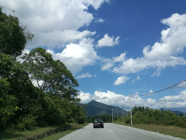 Road Malaysia Sky Blue Sky Country Road Rural Scene Tropical Climate Khatulistiwa