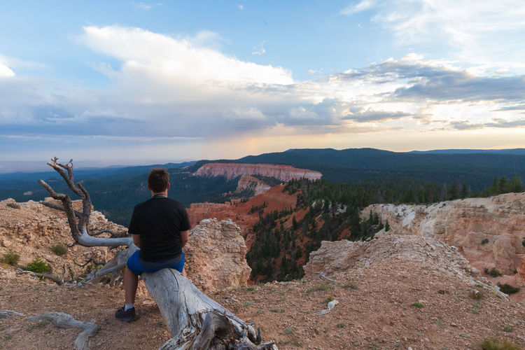 one of the greatest places I ever visited: the breathtaking Bryce Canyon NP Non-urban Scene Scenics - Nature Tranquility Tranquil Scene Outdoors Sunset Bryce Canyon USA Photos Sky Real People Mountain One Person Leisure Activity Beauty In Nature Cloud - Sky Rear View Lifestyles Landscape Full Length Environment Nature Men Mountain Range Looking At View