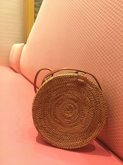 No People Indoors  Day Close-up Bag Rattan Couch
