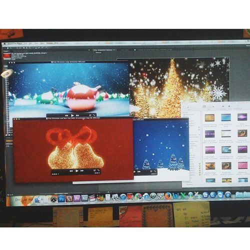 Preparing motions for tomorrow Christmas Celebration @Gelora Bung Karno Motion Loop Graphicmotion Resolume Animation