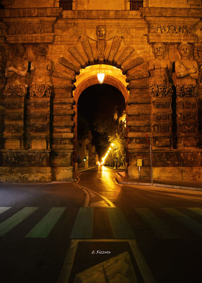#architecture #buldings #City #History #longexposure #Palermo #portanuova Arch Architecture Illuminated Night No People Outdoors Travel Destinations