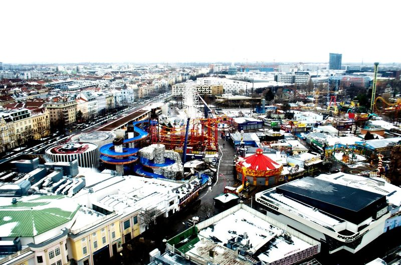 Urban 4 Filter View From Above City View  Wiener Riesenrad Nikon D5100  Travel Photography Miniature View Winter In Vienna