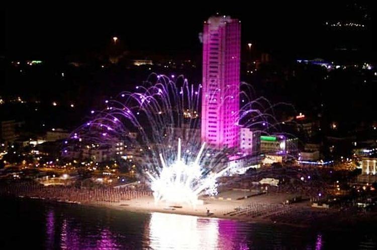 Notte RosaCesenatico Urban Skyline Architecture Arts Culture And Entertainment Night Illuminated Cityscape City