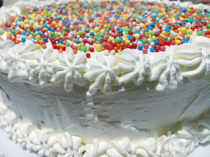 Close-Up Of Birthday Cake