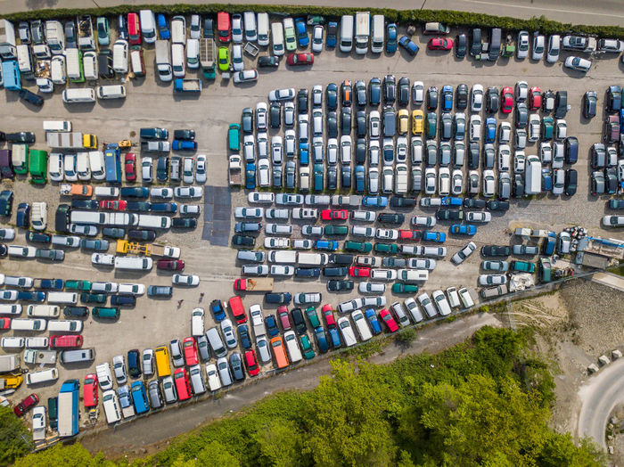 Transportation High Angle View Architecture Mode Of Transportation City Motor Vehicle Day Aerial View Freight Transportation Car Industry Water Abundance Business Container Outdoors Cargo Container Building Exterior Plant Large Group Of Objects No People Trucking