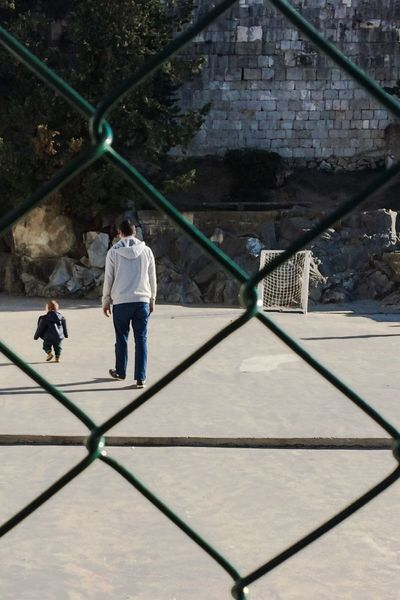 Father & Son My Family First Steps Lovely Day Love My Life  Love My City Split Croatia Through The Fence My Boys Photography