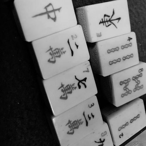 Bamboo Tiles Mahjong Tiles Mahjong Game Bnwphotography Bnwsingapore Singapore Close-up
