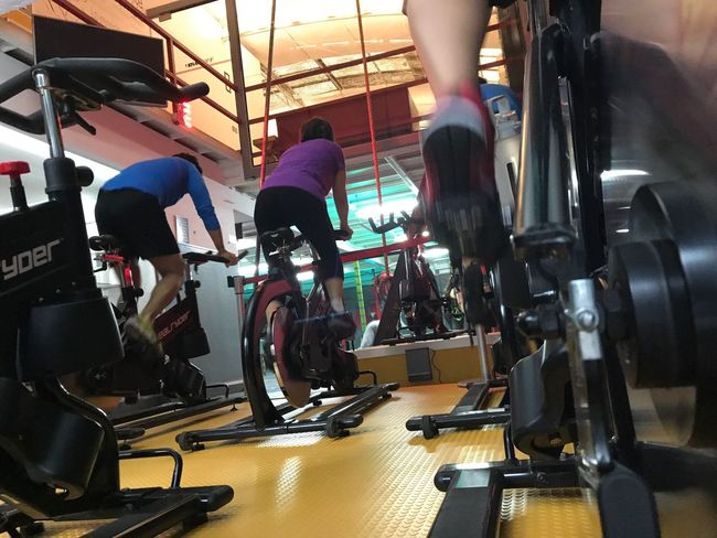 Ride indoor Health Club Exercising Indoors  Real People Gym Healthy Lifestyle Lifestyles Sport People