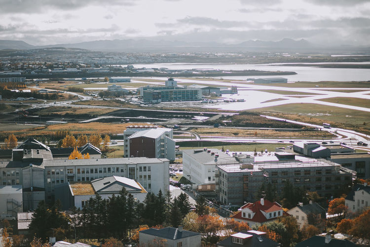 Autumn Iceland Reykjavik Tranquility Travel Architecture Building Exterior Canon City Cityscape Community Day Destination Europe High Angle View House Landscape Nature Outdoors River Scenics Sky Tourism Town Tree