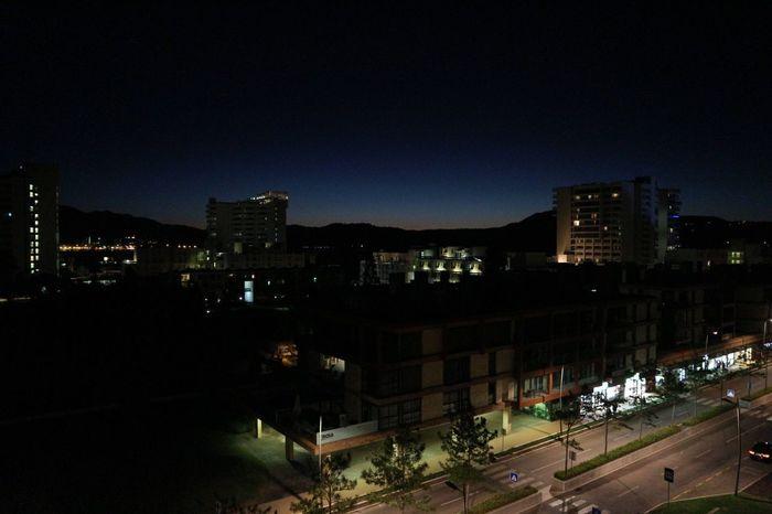 Night Architecture Illuminated Street Light Cityscape