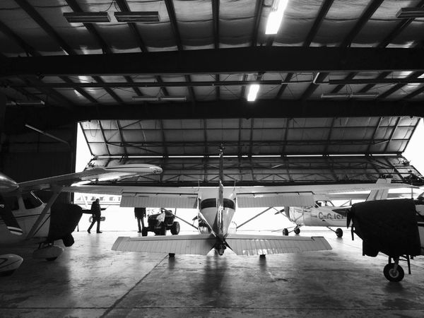 Fly high Airplane Aircrafts Hanger Blackandwhite IPhoneography
