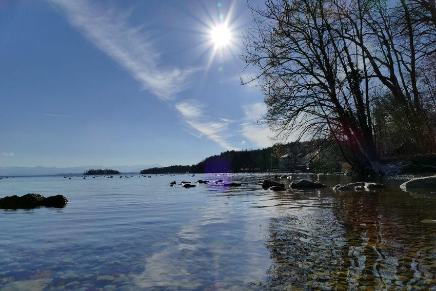 Sky Reflection Water Outdoors Starnberger See Possenhofen Bavaria Bayern Germany Deutschland Lake Seenlandschaft EyeEmNewHere LUMIX DMC FZ1000