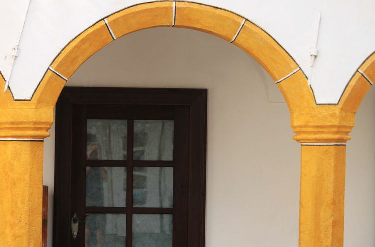 Slovenia Arch Architecture Built Structure Door Entrance Glass - Material No People Outdoors Radovljica September 2018 Yellow