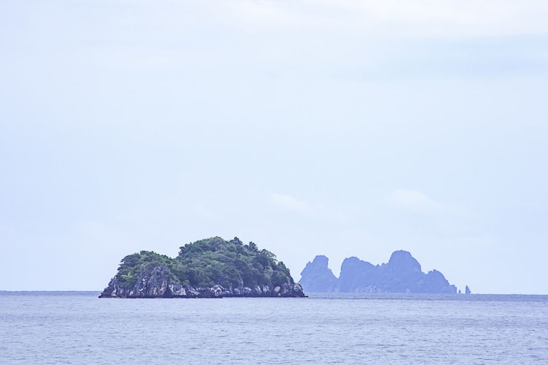 The beauty of the sky In the sea and island at Chumphon in Thailand. Sea Water Sky Scenics - Nature Beauty In Nature Tranquil Scene Tranquility Waterfront Rock Nature No People Day Rock - Object Idyllic Solid Rock Formation Land Copy Space Outdoors Stack Rock