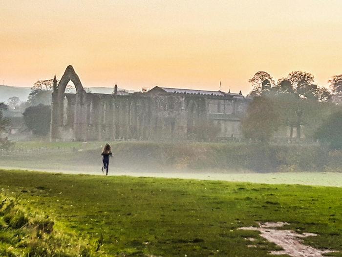 The beautiful Bolton Abbey Landscape Landscape_photography Countryside BoltonAbbey Abbey Mist Misty Morning