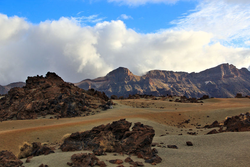 Beauty In Nature Canadas Del Teide Cloud - Sky Cloudy Day Day Desert Landscape Geology Landscape Mountain Mountain Range Nature No People Outdoors Physical Geography Rock - Object Rock Formation Scenics Sky Teide National Park Tenerife Tranquil Scene Tranquility