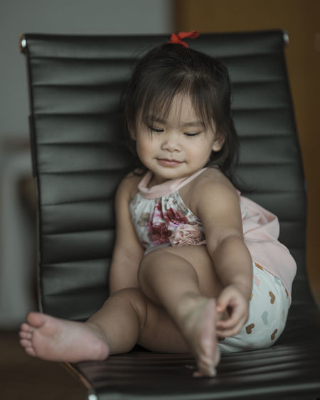 Our Paula Athena :) Child Sitting One Person Childhood Real People Indoors  Baby Innocence Babyhood Young Front View Cute Eyeem Philippines The Week on EyeEm Full Length Toddler  Lifestyles Home Interior Looking Leisure Activity
