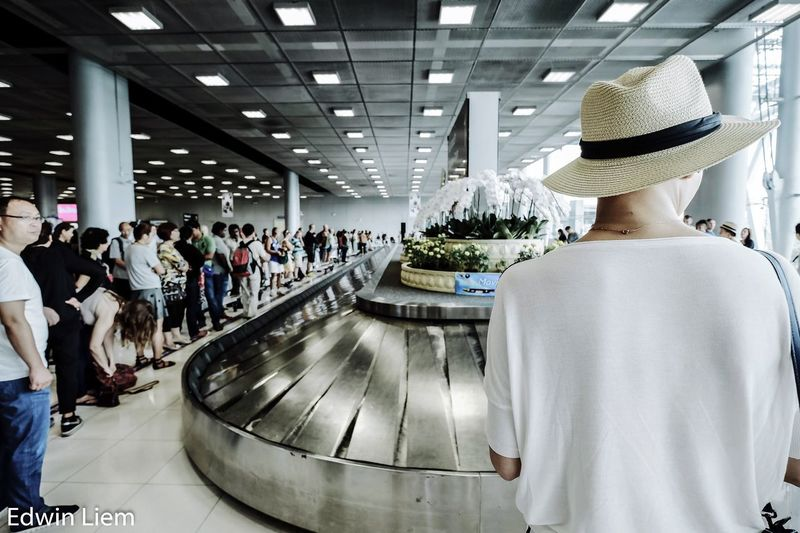 Streetphotography Airport Suvarnabhumi Airport Bangkok Thailand. People Urban Baggage Claim Moments Casual