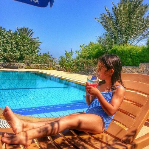 Cyprus Kyrenia Girne Kibris vasilya karsiyaka hayat masala guzel pool trees lemonade cold water weather sky summer orange beautiful gloomy
