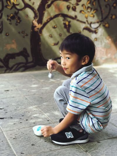 stay young One Person My Boy Kids Being Kids Innocence Lifestyles ThaiLocal EyeEm Thailand FAFAFAV Family