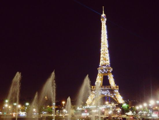 Seeing The Sights Paris, France  Paris By Night La Tour Effel Light And Water
