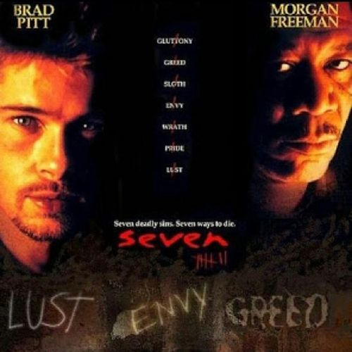 Watched This (**** out of 4 stars) Masterpiece Earlier... MyFavoriteFilmOfAllTime Se7en DavidMills JohnDoe Se7enDeadlySins