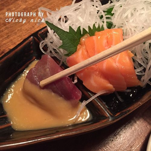 Sashimi with home-made Okinawan style sauce. It's such a heaven for my dinner What's For Dinner? Japanese Food Foodphotography Yummy