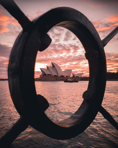 Rise and shine. High Resolution Mobilephotography Sunrise Sydney, Australia Sydney Opera House Artofvisuals Trappingtones Moodygrams City Daily Commute Sunset Water Tranquility Scenics Calm