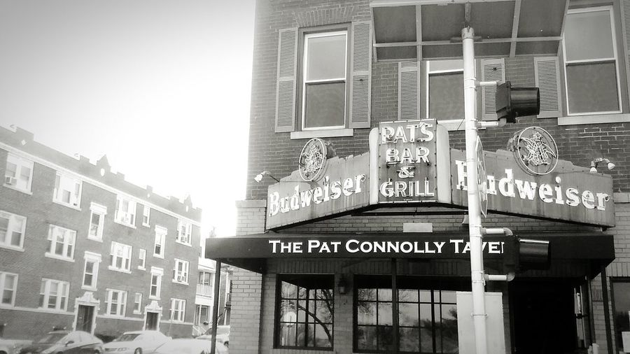 Bar And Grill Tavern  Budweiser The Pat Connolly Tavern Check This Out Taking Photos Enjoying Life Amazing A Sight To Behold Priceless Moment  Black & White Black And White Photography Mid Day City Life Saint Louis You Should Be Here Walking Down The Street Taken With Phone