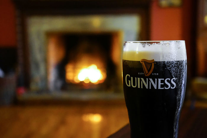 Guinness at fireside in Galway, Ireland Autumn Chimney Guinness Ireland Pint Rustic Alcohol Beer Beer Time Close-up Comfortable Cosy Cosy Night Drink Drinking Glass End Of Working Day Fire Fireplace Fireplace Time Fireplace Warmth Fireside Food And Drink Galway No People Pint Glass