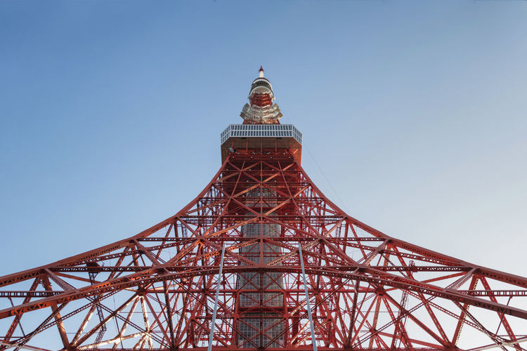 Tokyo Tower, Tokyo, Japan Architecture Broadcasting Tower Built Structure Business Finance And Industry Clear Sky Communication Connection Day Imitation Industrial Building  Japan Metal No People Observation Tower Outdoors Sky Technology Tokyo Tokyo Tower Tourist Attraction  Travel Travel Destinations Travel Photography Tv Broadcast