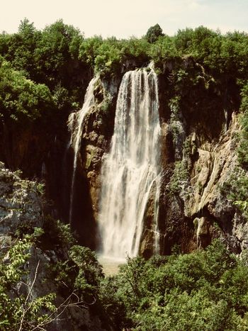 Waterfall Nature Motion Forest Beauty In Nature Tree Scenics An Eye For Travel