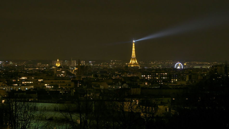 Paris at night Architecture Capital Cities  Cityscapes Eiffel Tower Famous Place Ferris Wheel International Landmark Night Photography Outdoors Paris Tower