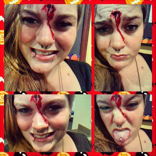 Being HOLEy. Hahaha. I'm so punny. Funny Punny Goshimsilly Holes newhole Ineedalife halloween
