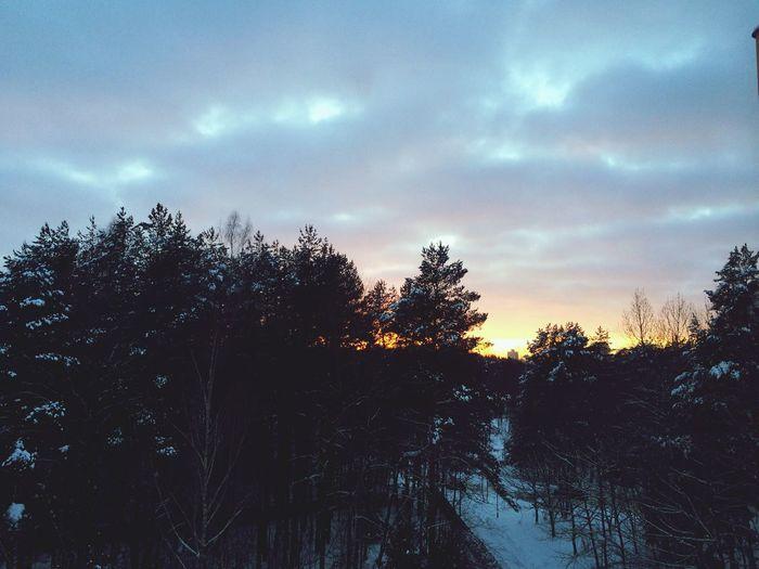 Как во сне: после экзамена фотографирую закат. First Eyeem Photo