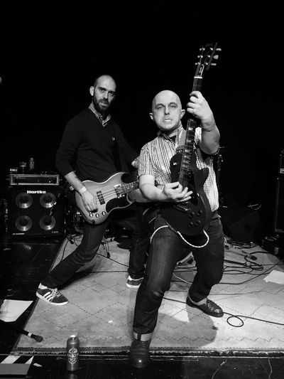 We rock ! Music Two People Musician Musical Instrument Guitar Plucking An Instrument Punk Rock Skinhead Skinhead N Punk Shootermag