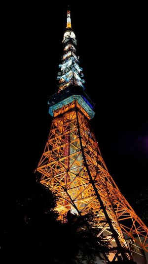 Tokyo tower - Japan Architecture Night Tower Light Orange Color Nikonphotography Nikon ASIA Japan Tokyo Travel Travel Destinations Night Architecture Tower Tall - High Travel Destinations Illuminated Built Structure Tourism City Sky No People Travel Low Angle View Outdoors Lighting Equipment Building Exterior