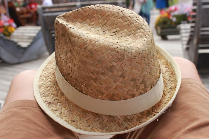 Close-up Day Focus On Foreground Food And Drink Hat Human Body Part Human Hand Incidental People Lifestyles Men One Person Outdoors People Real People Store Straw Hat Sun Hat