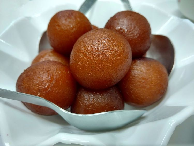 Gulabjamun Food Food And Drink Sweet Food Indoors  Brown Dessert No People French Food Healthy Eating Close-up Ready-to-eat Appetizer Italian Food Bakery Freshness Day Sweet Dish  Yummy Food Foodlover Shapes And Textures White Background Spoons Sweet Moments