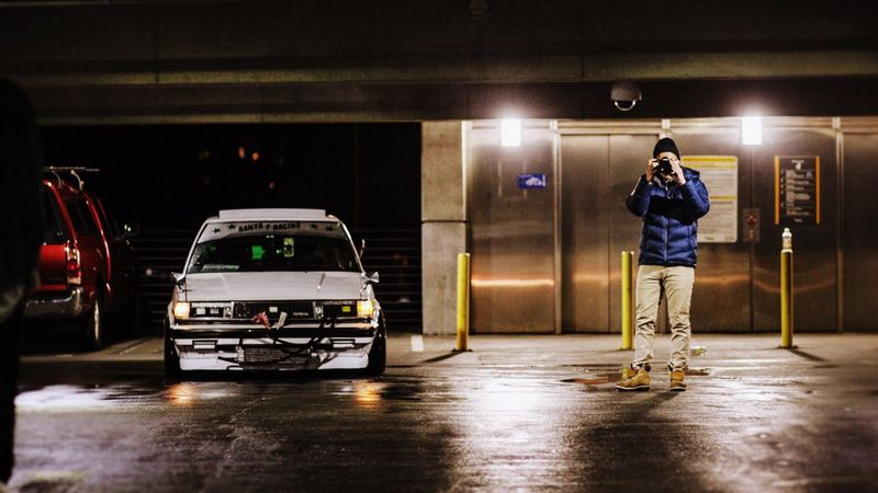 Taking photos of a car meet Cars Jdm Photography Bellevue
